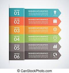矢, ベクトル, template., ビジネス, infographics