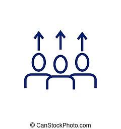 矢, 人々, avatars, の上, ビジネス