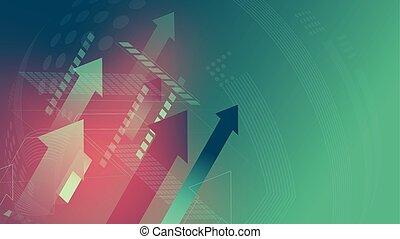 矢, 技術, 緑の背景, 印
