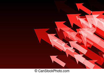 矢, 黒, 光沢がある, 背景, 赤
