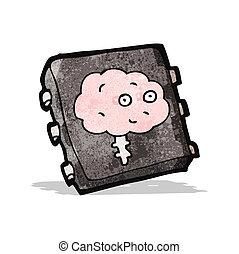 知性, チップ, 漫画, 人工