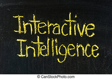 知性, 単語, 対話型である