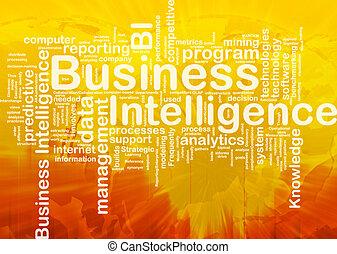 知性, 概念, ビジネス, 背景