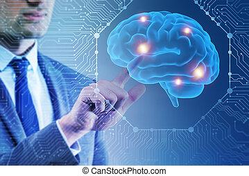 知性, 概念, 人工, ビジネスマン