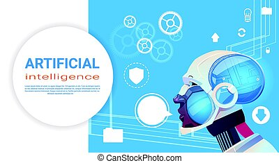 知性, 現代, ロボット, 人工, 脳, 技術