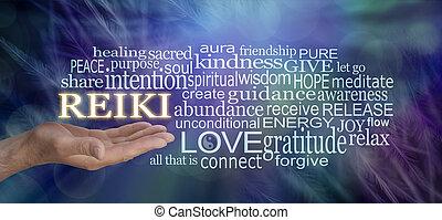 知恵, 単語, 優しい, 雲, 言葉, reiki