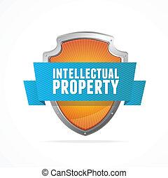 知的財産, 保護しなさい, 保護, 白