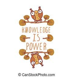 知識, 力