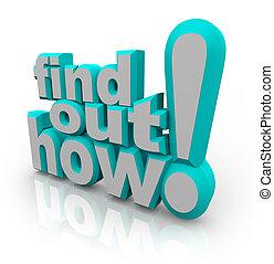 知識, 提供, 建議, 怎樣, 詞, 在外, 發現, 幫助