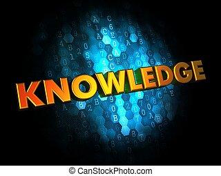 知識, 概念, 上に, デジタル, バックグラウンド。