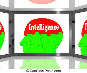 知識, 知性, スクリーン, 脳, 人間, 提示