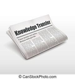 知識, 調動, 詞, 上, 報紙