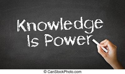 知識, empowers, 你, 粉筆, 插圖