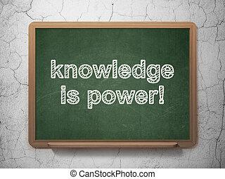 知識, power!, 黒板, 背景, 教育, concept:
