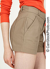 短いズボン, ファッション, サイド光景