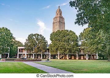 短棍, 建築物, 五角大樓, 胭脂, 老, 兵營, 州議會大廈