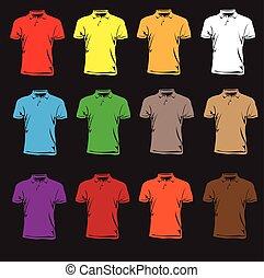 短的袖子, t-shirts.