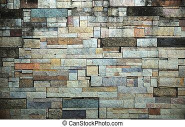 石のきめ, 古い, 背景, 壁, 写真