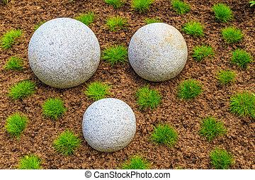 石の庭, 禅, 日本語, 玉石, 花こう岩