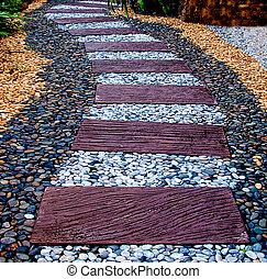 石の散歩, 背景, 道, 小石, ブロック