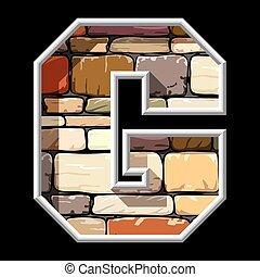 石の文字, g