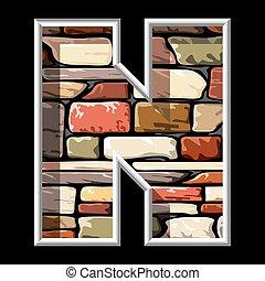 石の文字, n