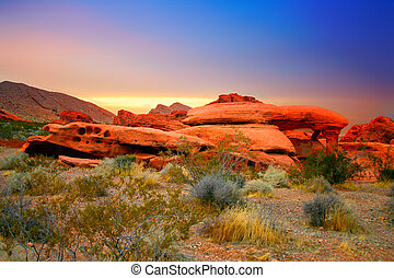 石头, 内华达, 红的峡谷
