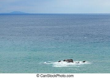 石头, 在上, the, 黑海
