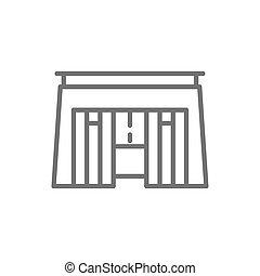 石棺, エジプト人, ファラオ, 隔離された, 墓, icon., 背景, 白いライン