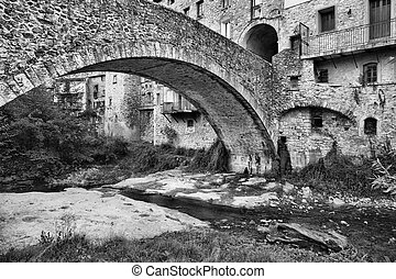石橋, 中に, ∥, 古い, フランス語