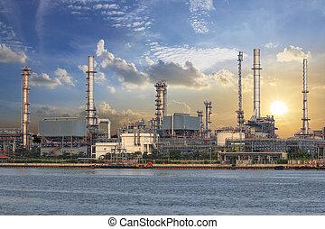 石油化学, 産業工場