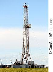 石油操練, 裝置, 上, oilfield