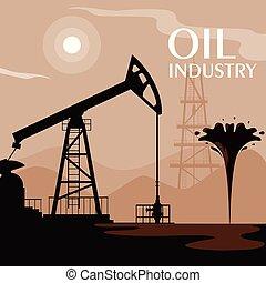 石油産業, デリック, 現場