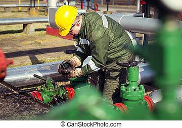 石油産業, 労働者, ガス