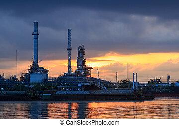 石油精製所, 産業, 植物