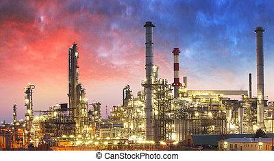 石油精製所, 石油化学 植物