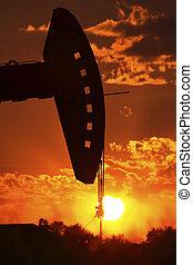 石油裝置, 泵千斤頂, 把畫成側面影像, 所作, 放置太陽