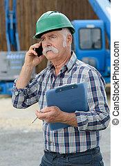 石油, シニア, 工員, 電話
