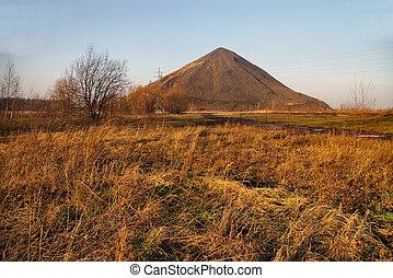 石炭, 古い, 山