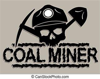 石炭 抗夫, 頭骨