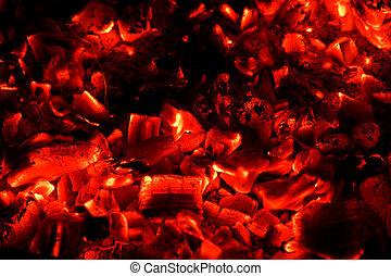 石炭, 熱い赤, 背景