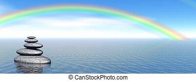石頭, 彩虹