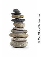 石, ∥あるいは∥, バランスをとられた, 高い, タワー, 山