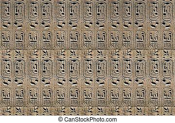 石, エジプト人, ライト, 象形文字, 背景, ベージュ