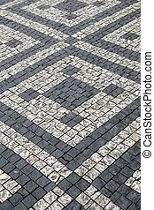 石, パターン, 通り, 舗装
