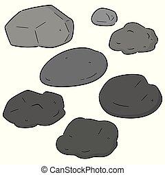 石, ベクトル, セット