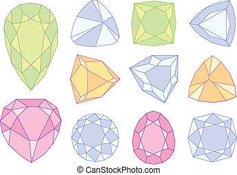 石, ベクトル, 宝石