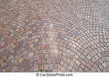 石, 上塗を施してある, 分解しなさい, 通り, 舗装, 古い