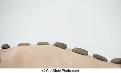 石, 中心, 美しさ, 暑い, 療法, マッサージ