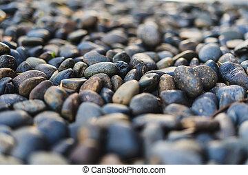 石, 使用, の上, 舗装, 背景, 終わり, 小石